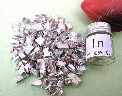 5 grams High Purity 99.995% indium  in Metal Lumps