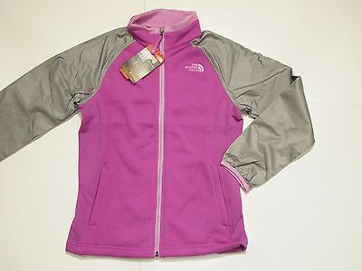 New with tag Girls North Face Violet Grey Silver Skye Fleece Track Jacket M L
