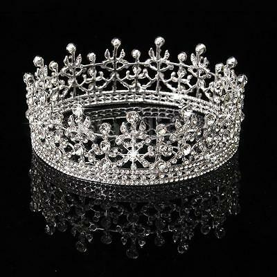 Princess Silver Crystal Hair Tiara Wedding Bridal Rhinestone Prom Crown Headband