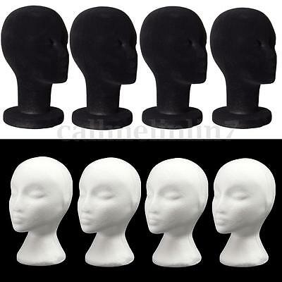 Female Polystyren Styrofoam Foam Mannequin Head Model Wigs Glasses Display Stand