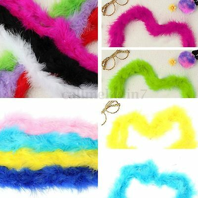 2M Black Pink...Feather Boa Hen Night Parties party Fancy Dress 6 Colours UK New