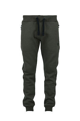 Fox NEW Green & Black Zipped Pocket Cuffed Fishing Joggers *All Sizes*