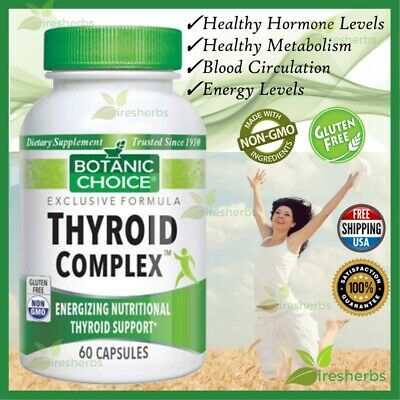 Thyroid Complex Support Healthy Weight Diet Mood Energy Supplement 60 Capsules