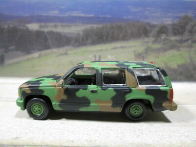 Chevy Camo Tahoe  Near Mint 1/64 S Scale Loose