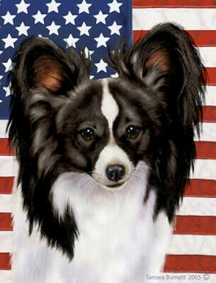 Garden Indoor/Outdoor Patriotic II Flag - Black & White Papillon 320781
