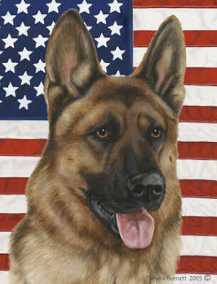 Garden Indoor/Outdoor Patriotic II Flag - German Shepherd 320031