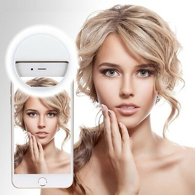 Portable Selfie White LED Camera Ring Flash Fill Light For iPhone Android Phone