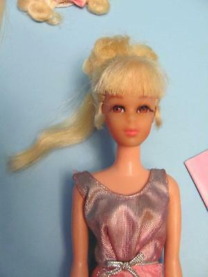 Vintage Francie Growing Pretty Hair w/ Original Instructions ,Pamphlet, & Dress