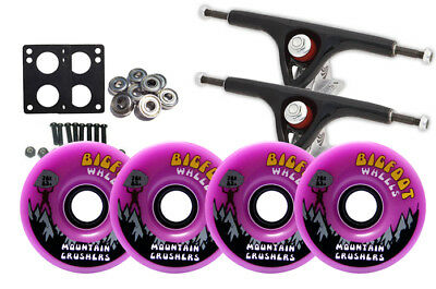 Paris 180 Black LONGBOARD TRUCKS BIGFOOT CRUSHER PUR Wheels