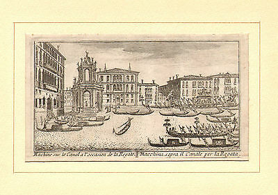 old mounted engraving of a regata in venice ?