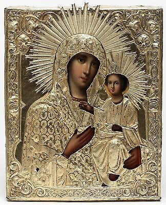 Russian Icon Of Iverskaya Mother Of God