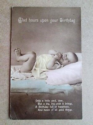 Glad Hours Upon Your Birthday, Sweet Baby - Unknown Publisher (1916)