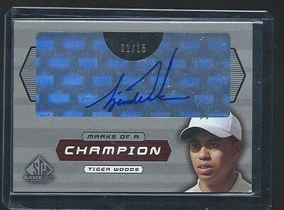 Upper Deck Game Used Golf Mark of a Champion Tiger Woods MC1-TW #01/15 A 1/1!!!