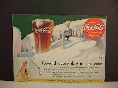 COCA-COLA - Vintage 1935 Magazine Ad - September Issue