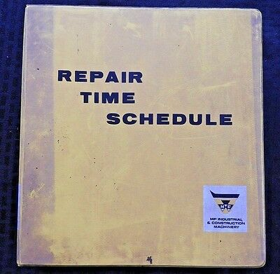 Massey Ferguson 356 2244 200 302 304 2135 3165 2700 Tractor Repair Time Schedule