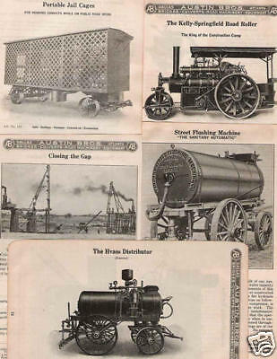 CD   1915 ROAD and STREET BUILDING CATALOGS 1/20.3 1/24 G scale HO On3 On30 HOn3