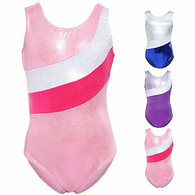 Kids Sparkling Sleeveless Ballet Dance Gymnastic Leotards Dancewear Unitards
