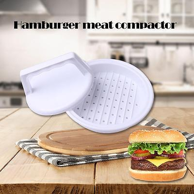 Plastic Burger Press Hamburger Meat Beef Grill Cooking Maker Kitchen Mold BBQ BY