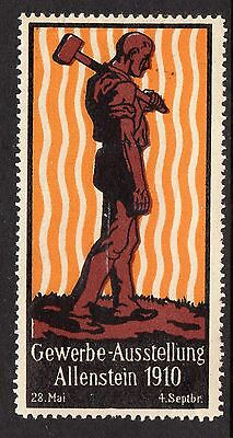 Germany 1910 exhibition poster stamp