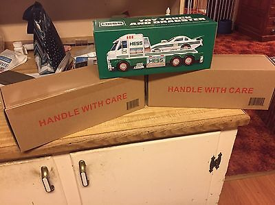 Sold Out 2016 Hess Truck Lot of 2 Factory Sealed Boxes Free Shipping