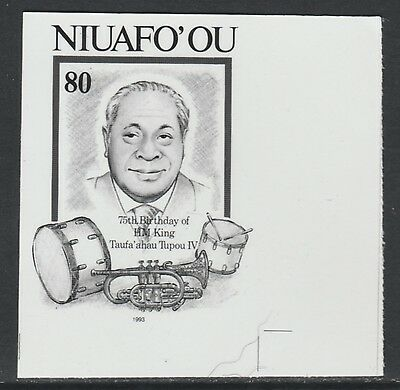 Tonga Niuafo'ou 3696 - 1995 75th Birthday of  King B&W PHOTOGRAPHIC  PROOF