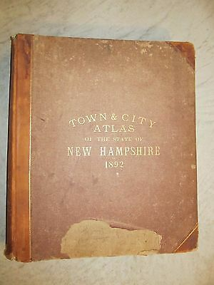 Town and City Atlas of the State of New Hampshire,  D.H. Hurd & Co. 1892, 337pgs