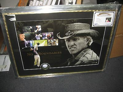 Greg Norman – Signed And Framed No Boundaries Print + Golf Ball