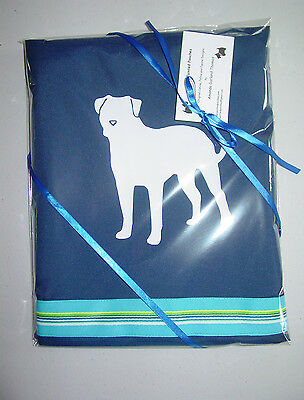 American Bulldog dog Shower Curtain original..choice of colors for you