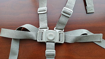 NEW Graco High Chair Seat Belt Strap 5 pt Harness Replacement Light Brown