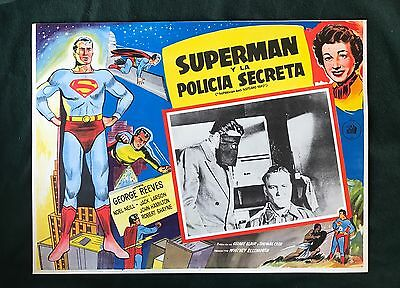 SUPERMAN AND THE SCOTLAND YARD George Reeves ORIGINAL LOBBY CARD 1954 NEAR MINT