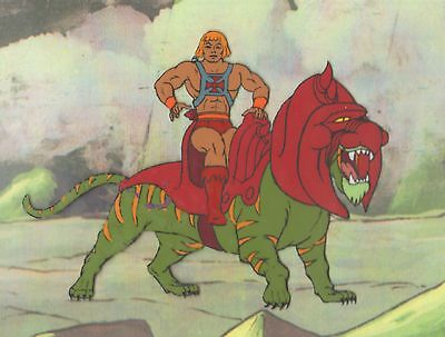 HE-MAN Masters of the universe Production Animation Cel Filmation 2*