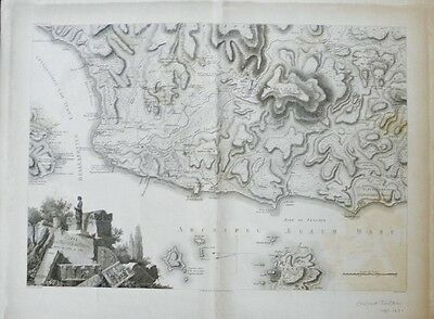 Jean-Denis Barbie CARTE DE LA PLAINE DE TROIE c1809 French Engraved Map Greece