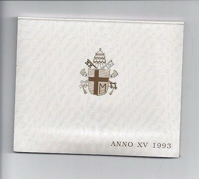 Vatican Coins Official 7 Coin Mint Set 1993  Anno 15