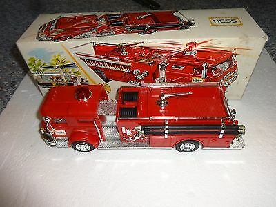 Vintage 1970 Hess Fire Truck Made In British Crown Colony Of Hong Kong