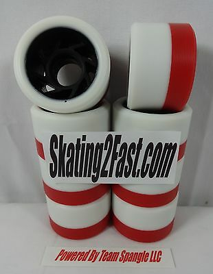 Red FlyWheel Dual Pour White 96A Red 92A Set of 8 38mm x 59mm New Skates Wheels