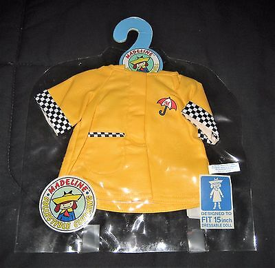 1997 Madeline Collectible Clothing Yellow Raincoat--For 15 Dressable Doll