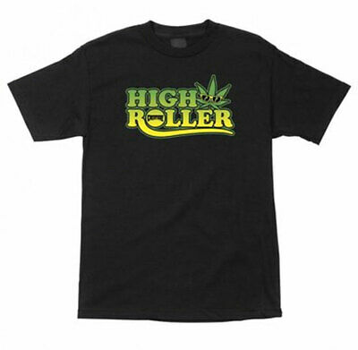 CREATURE Skateboard Shirt HIGH ROLLER weed BLACK Size LARGE