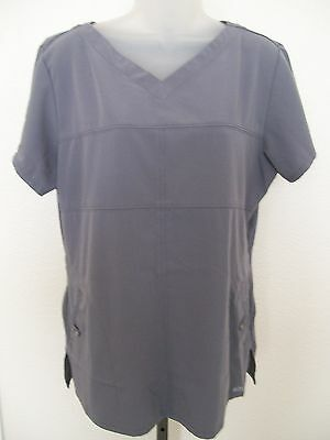 Grey's Anatomy Signature by Barco sz L gray V neck scrub top