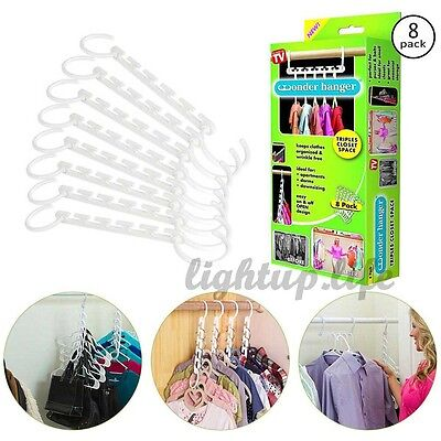 Multi function space saving closet organizer magic wonder clothes hangers rack