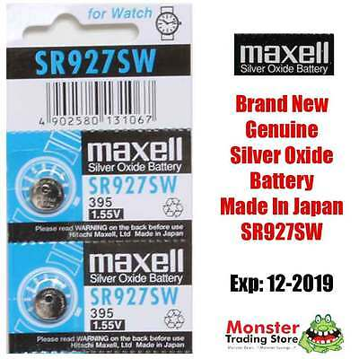 2 Pcs Sr927Sw 395 1.55V Silver Oxide Battery Made In Japan For Watch New