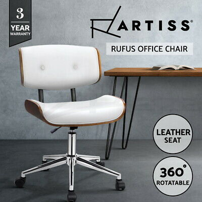 Artiss Eames Replica Office Chairs Premium PU Leather Executive Computer Desk WH