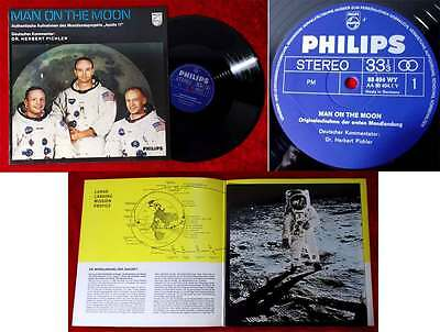 LP Man on the Moon (Philips 88 494 WY) Apollo 11 - erste Mondlandung (D 1969)