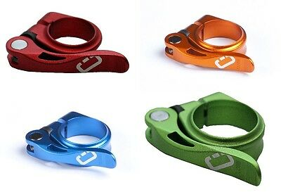 Seat clamp Drössiger With Quick Release 31,8 or 34,9 mm various colors