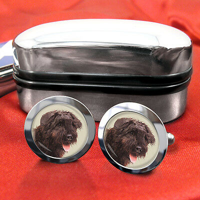 Bouvier des Flandres, Flanders Cattle Dog Cufflinks & Box