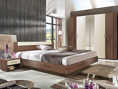 "Qmax ""Liana"" Range, German Made Bedroom Furniture. Columbia Walnut Finish."