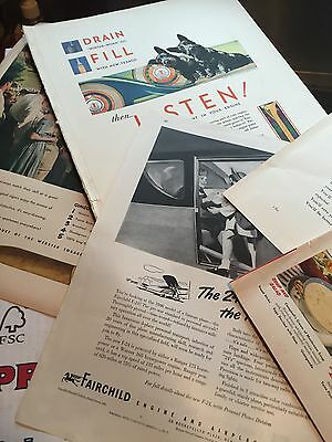 Vintage 350+/- Magazine Ads Oil, Beer, Cars, Clothes, Manufacturing 1930s-50's!