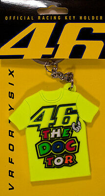 Valentino Rossi VR 46 The Doctor T shirt Moto GP Rubber Keyring Keychain