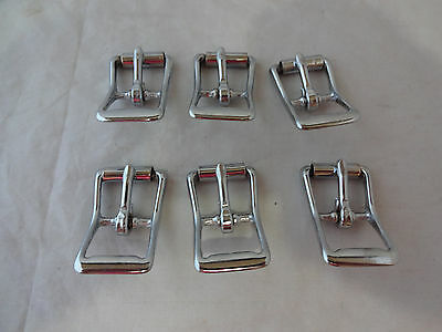 "Lot of 6 Roller Buckles #Z150 NP Horse Tack 3/4 "" Weaver Leather Belt Hardware"