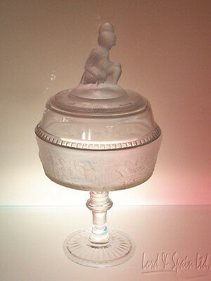 LG Wright WESTWARD HO Reproduction EAPG Tall Covered Compote Bowl-Gillander