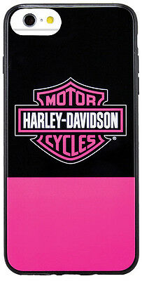 Harley Davidson iPhone 8 and iPhone 7 Pink and Black TPU Protective Cover
